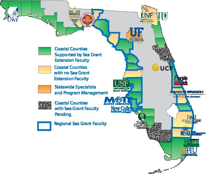 Florida Sea Grant Participating Institutions