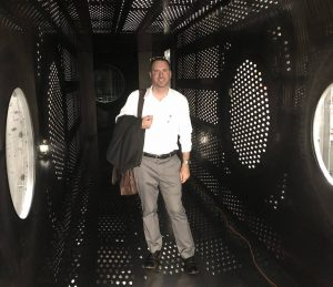 PI (Miller) in the NASA GRC Supersonic Tunnel