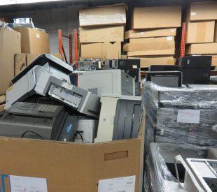 Box of old printers