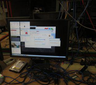 Computer monitor showing usage data