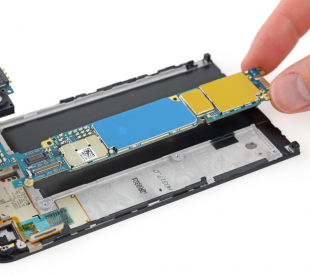 Inside of a cell phone