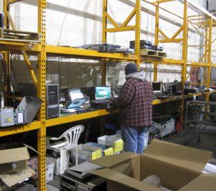 Computer repair warehouse